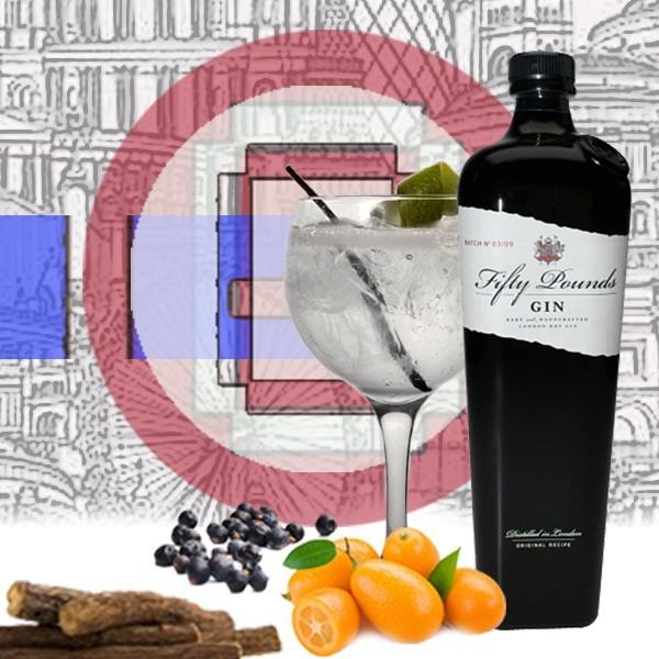 Fifty Pounds Gin + 3 botanicos