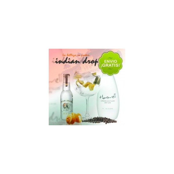 "Pack 10 Gin Tonic ""Indian Drop"" + Kit para preparar Gin Tonic"
