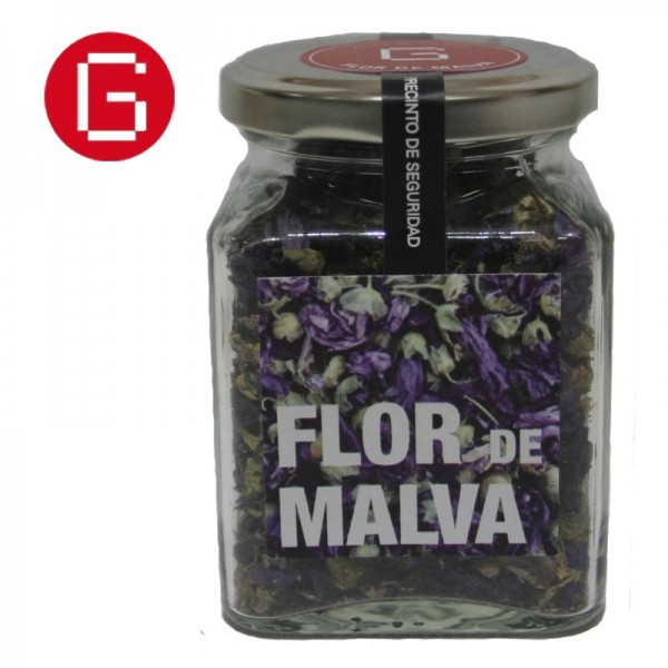 Flor de malva deshidratada