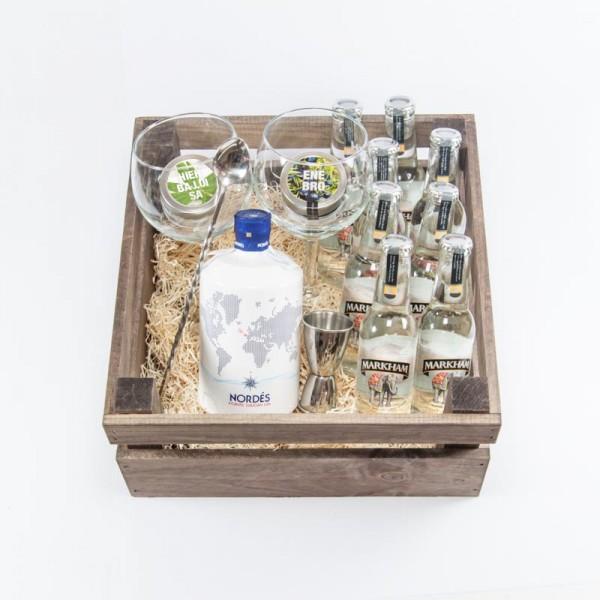 Pack regalo Gintonic con ginebra nordes