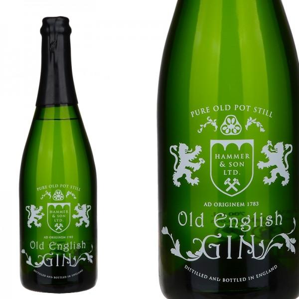 Ginebra Old English Gin botella de champan